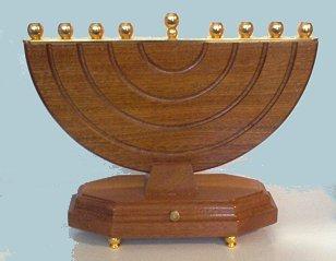 Wooden Musical Menorah Large