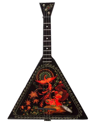 Balalaika Music Box with Firebird Design