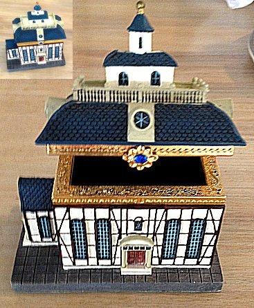 Judaica musical temple trinket box plays hava nagila for House music 2005