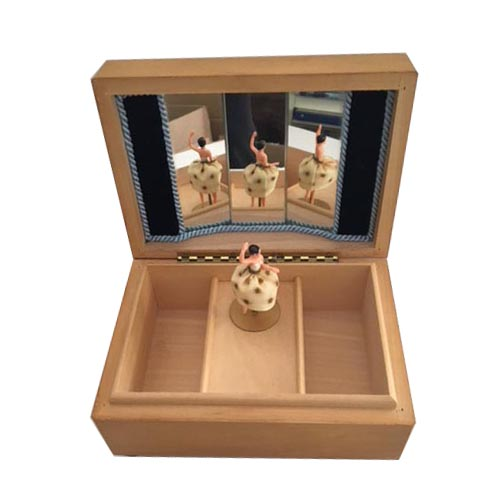 Ballerina Dances in Simple Ashwood Music Box