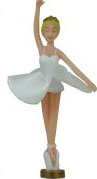Blonde Ballerina with satin-like tutu