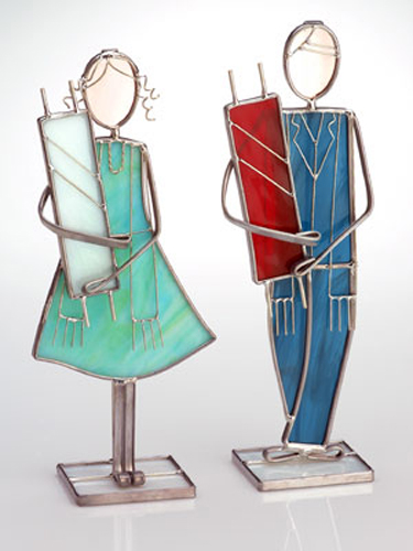 Stained Glass Bar and Bar Mitzvah Figurines