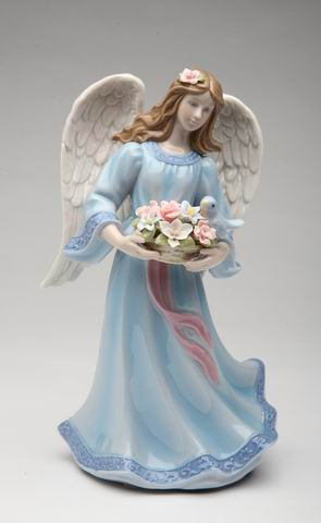 Angel With Basket and Bird