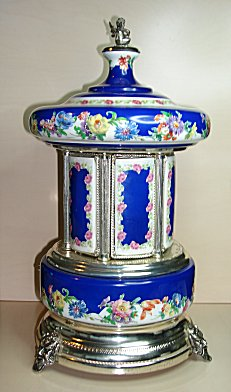 Music Box Carousel Mosque Sevres Style Vintage Reuge