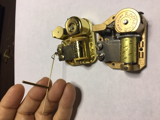Installation Kit Wire Stopper for a the Musical Mechanism of a Music Box