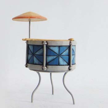 Jim Shores Colorful Miniature Snare Drum Figurine 3.5