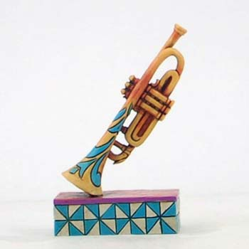 Jim Shores Colorful Trumpet Figurine 3.5