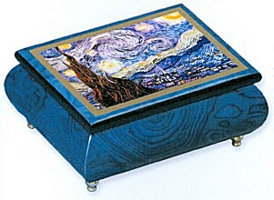 Van Gogh's Starry Starry night on Ercolano Music Box