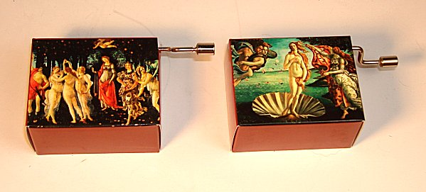 Hand Crank Music Box  Boticcelli Series