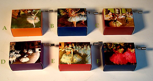Hand Crank Music Box Degas Series