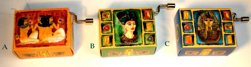 Hand Crank Music Box Egyptian Series