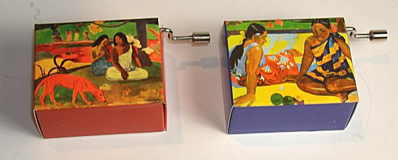 Hand Crank Music Box Gauguin Series