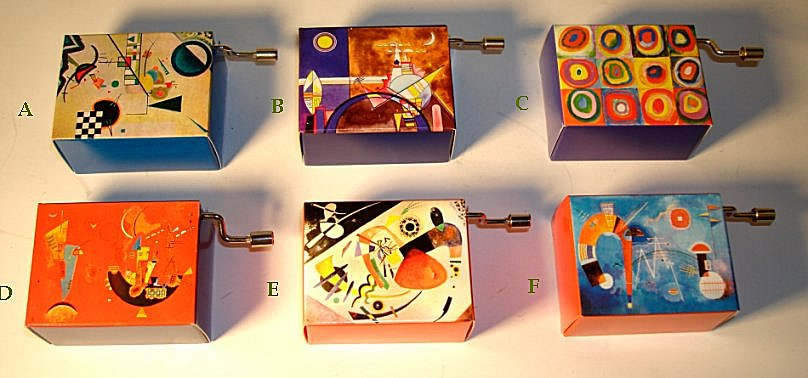 kandinsky hand crank music boxes