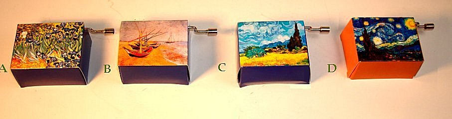 Hand Crank Music Box Music Box Van Gogh Series