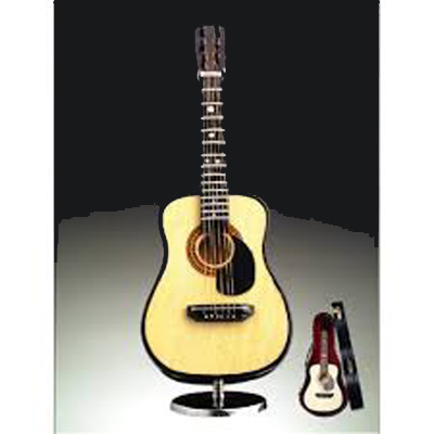 Musical Miniature Acoustic Guitar with Stand and Case