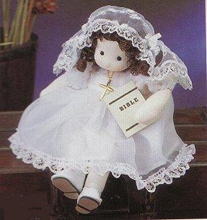 Musical Dolls - First Communion Girl (Brunette)
