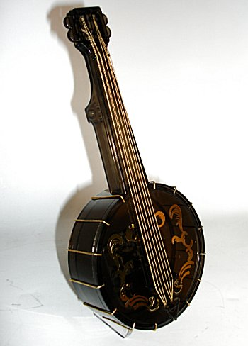 vintage plastic banjo music box