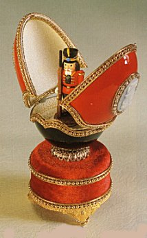 Christmas  Music box with Nutcracker in Goose Egg