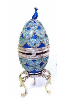 Musical Peacock Goose Egg