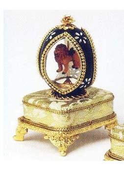 Leo the Lion - Genuine Pigeon Egg Music Box
