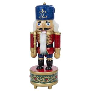 Musical Nutcracker with Blue Hat