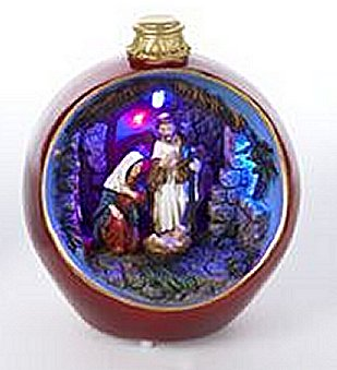 Color Changing  Ornaments Musical Nativity Scene