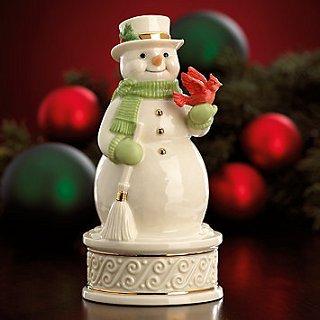 Snowman Musical Figurine By Lenox