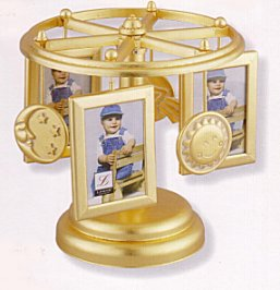 Musical Photo Carousel in brass