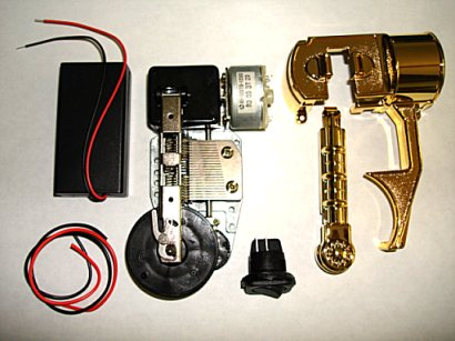 "electronic 5"" music box disc player mechanism kit"
