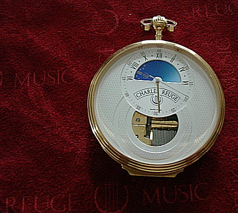 Reuge Lepine Night and Day Musical Pocket Watch with Case