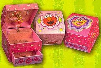 Sesame Street Domed Jewelry Box