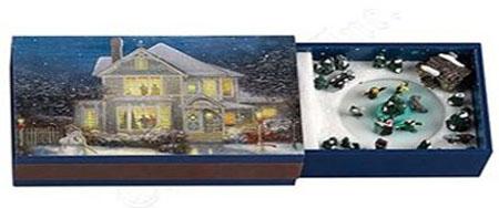Thomas Kinkade Mini Animated matchbook Music Box from Mr Christmas