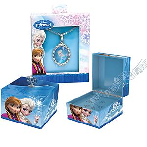 Frozen princesses musical keepsake box with Elsa pendant