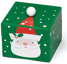 Mr. Christmas Pom Pom Santa Musical Box