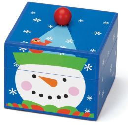 Mr. Christmas Pom Pom Snowman Musical Box