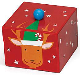 Mr. Christmas Pom Pom Reindeer Music Box