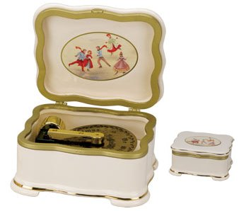 Skater's Waltz Porcelain Disc Player Music Box