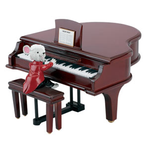 Maestro Mouse with Baby Grand Piano