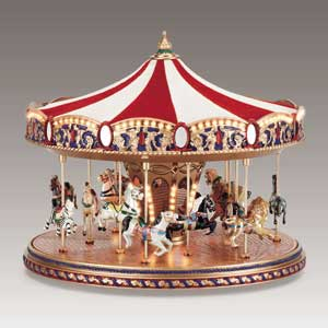 Large Luxury Musical Carousels, Gold & Silver Waltz Music Bo ...