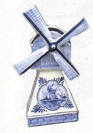 Windmill Delft Blue 7.5 inches