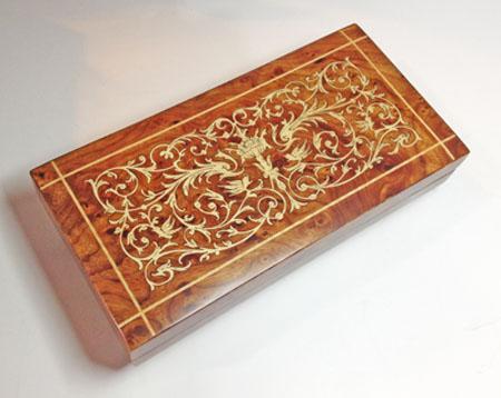 Wlm Music Box with Intricate Scroll Work