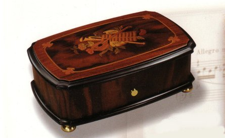 Reuge Music Box with Musical Instrument Inlay (3.72)