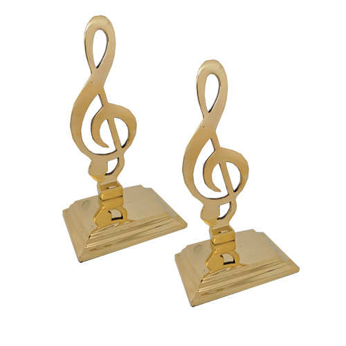 Brass Bookends G Clef