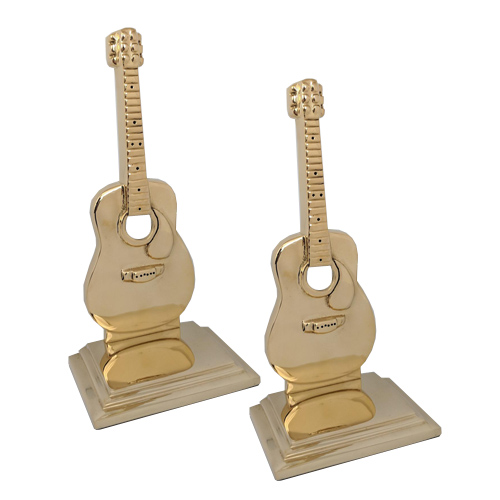 Brass Guitar Bookends