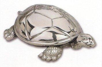 Silver Musical Figurine Turtle