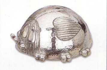 Silver Musical Figurine Lady Bug