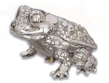 Silver Musical Figurine Toad