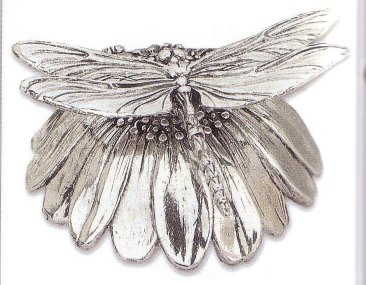 Silver  Musical Figurine Dragonfly