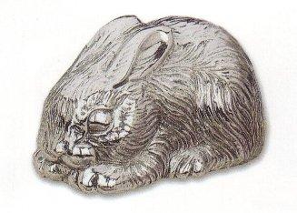 Silver Musical Figurine Bunny Rabbit
