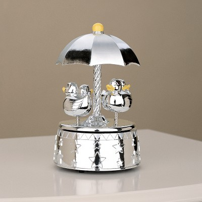 Silver Musical Carousel something Duckie by Reed and Barton